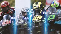 MotoGP - Pembalap Yamaha: Quartararo, Vinales, Rossi, Morbidelli (Bola.com/Adreanus Titus)