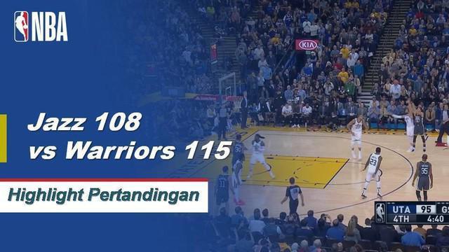 Kevin Durant mencetak 28 poin dan Stephen Curry dan Klay Thompson menambahkan 24 dan 22 membawa Warriors menang 5 kali beruntun