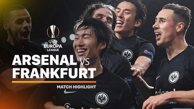 Berita video highlights matchday 5 Grup F Liga Europa 2019-2020, Arsenal vs Eintracht Frankfurt, yang berakhir dengan skor 1-2, Kamis (28/11/2019).