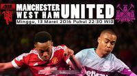Manchester United akan menjamu West Ham United pada putaran keenam Piala FA di Old Trafford, Manchester, Minggu (13/3/2016). (Bola.com/Samsul Hadi)