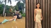 6 Pesona Soraya Rasyid, Presenter yang Bergaya Bak Model saat Banjir (sumber: Instagram.com/sorayarasyid12)
