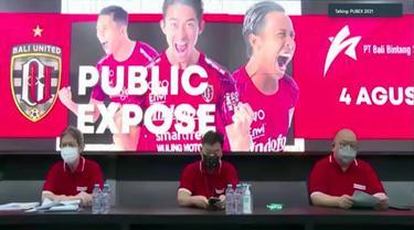 Paparan publik PT Bali Bintang Sejahtera Tbk (BOLA)/Bali United pada Rabu, 4 Agustus 2021 (Dok: Liputan6.com/Pipit Ika R)