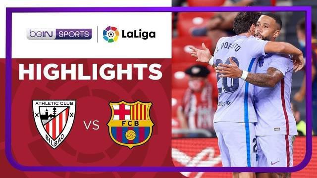 Berita video highlights Liga Spanyol, Barcelona ditahan imbang Athletic Bilbao, Minggu (22/8/21).