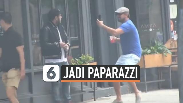 ISENG, LEONARDO DICAPRIO JADI PAPARAZZI TAKUTI JONAH HILL