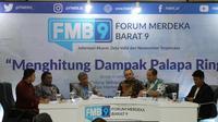Diskusi Forum Merdeka Barat dengan tema Menghitung Dampak Palapa Ring. (Liputan6.com/ Agustinus Mario Damar)