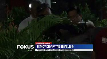 Setya Novanto dipindahkan ke Rutan Gunung Sindur, Bogor, karena kedapatan pelesiran di toko bangunan mewah bersama sang istri di Padalarang, Bandung.