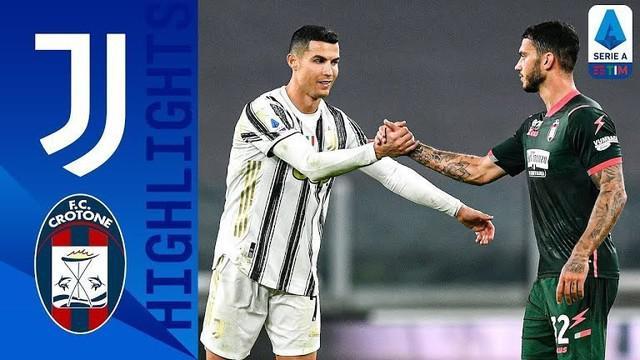 Berita video highlights Liga Italia 2020/2021 untuk laga pekan ke-23 antara Juventus melawan Crotone yang berakhir dengan skor 3-0, di mana Cristiano Ronaldo mencetak 2 gol, Selasa (23/2/2021) dinihari WIB.