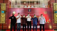 Kementerian Hukum dan HAM RI bersama Persatuan Wartawan Indonesia (PWI) dan Dewan Pers menyelenggarakan Seminar Nasional bertajuk 'Regulasi Negara dalam Menjaga Keberlangsungan Media Mainstream di Era Disrupsi Medsos'.