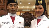 Paskibraka Nasional 2019 dari Jawa Tengah, Salma dan Fany, berhasil menjadi Pembawa Baki Tim Merah dan Komandan Kelompok (Danpok) 8 Tim Putih (Ratu Annisaa Suryasumirat/Liputan6.com)
