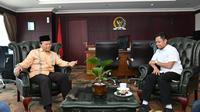 Wakil Ketua MPR RI Dr. H. M. Hidayat Nur Wahid saat menerima kunjungan delegasi Gerakan Pemuda (Gema) Keadilan Provinsi DKI Jakarta.