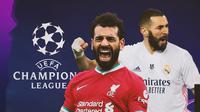 Real Madrid bertemu Liverpool pada perempat final Liga Champions 2020/2021. (Bola.com/Dody Iryawan)