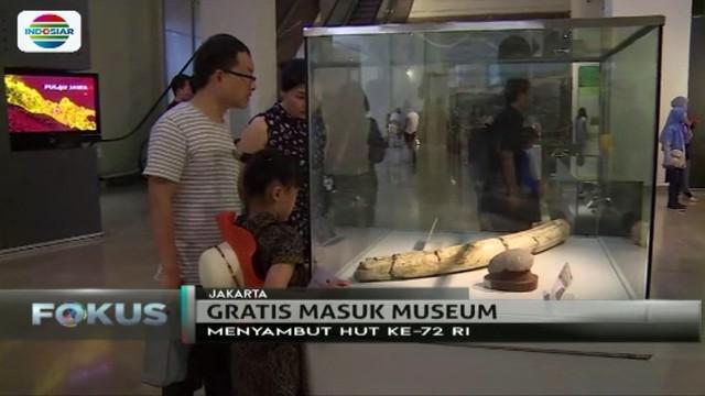 Sambut HUT ke-72 Kemerdekaan RI, Kementerian Pendidikan dan Kebudayaan menggratiskan biaya masuk museum selama Agustus.