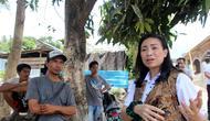 Anggota DPR RI dari Fraksi Partai Gerindra Rahayu Saraswati mengunjungi warga terdampak gempa Lombok, NTB. (Istimewa)
