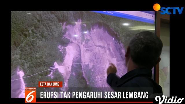Penyebabnya karena erupsi yang terjadi relatif kecil dan merupakan erupsi freatik yang tidak mengeluarkan magma serta berada jauh dari sesar lembang.