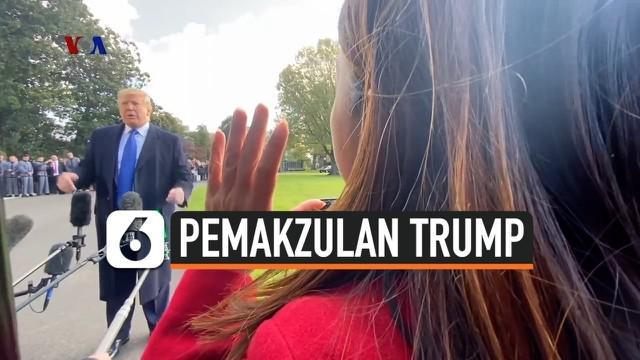 Presiden AS Donald Trump pekan ini menghadapi adanya dengar pendapat terbuka di DPR-AS terkait penyelidikan pemakzulan terhadap dirinya.