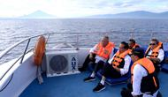 Presiden Joko Widodo atau Jokowi di atas kapal menuju Bunaken, Jumat (5/7/2019). (foto: Biro Pers Setpres)
