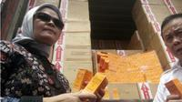BPOM Amankan Kosmetik Ilegal Senilai Rp 5,4 Miliar. (Liputan6.com/Yandhi Deslatama)