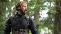 Aktor Chris Evans saat beradegan dalam film Avengers Infinity War. Chris Evans berperan sebagai Steve Rogers/Captain America di film tersebut. (Chuck Zlotnick/Marvel Studios via AP)