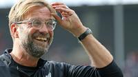 Jurgen Klopp puas dengan performa para pemain Liverpool setelah menundukkan Hertha Berlin (29/7/2017). (doc. Liverpool FC)