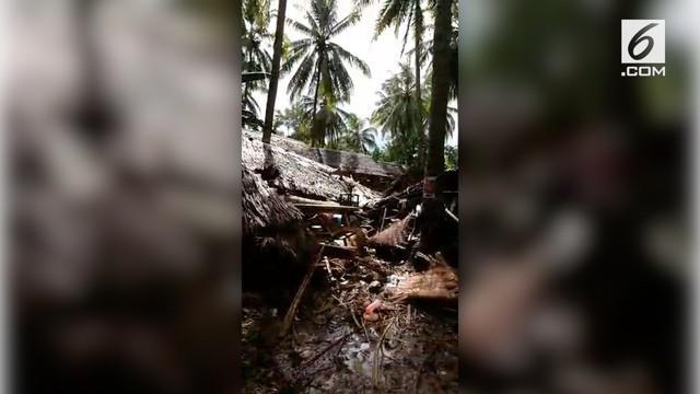 Sebuah desa di Kabupaten Pandeglang, Banten hilang setelah disapu gelombang tsunami Selat Sunda.