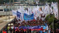 May Day, buruh berbagai daerah berkumpul di Jakarta