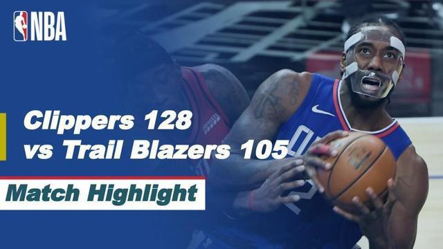 Berita video, Kawhi Leonard Bawa LA Clippers Menang atas Portland Trail Blazers