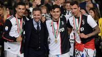 Direktur Sepak Bola Juventus, Fabio Paratici (dua dari kiri). (AFP/Marco Bertorello)