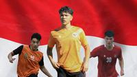 Timnas Indonesia - Jack Brown, Luah Mahessa, Elkan Baggott (Bola.com/Adreanus Titus)