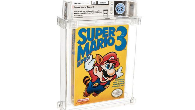 Salinan Super Mario Bros. 3 yang berhasil dilelang dengan harga tinggi. (Kredit: Auction Heritage)