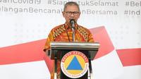 Juru Bicara Penanganan COVID-19 di Indonesia, Achmad Yurianto saat konferensi pers Corona secara Live di Graha BNPB, Jakarta, Rabu (1/4/2020). (Dok Badan Nasional Penanggulangan Bencana/BNPB)