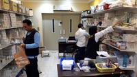 Persediaan obat yang tersedia di Klinik Kesehatan Haji Indonesia di Madinah dan Mekkah, Arab Saudi. (Biro Komunikasi dan Pelayanan Masyarakat, Kementerian Kesehatan RI)