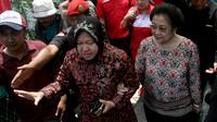 Megawati Soekarnoputri dan Walikota Surabaya Tri Rismaharini (Antara/Suryanto)