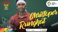 Garuda Kita Asian Games Christoper Rungkat (Bola.com/Foto: Vitalis Yogi /Grafis: Adreanus Titus)