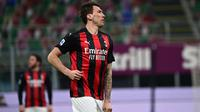 Mario Mandzukic didatangkan AC Milan pada Januari 2021 demi mempertajam lini depan, namun belum mampu berkontribusi maksimal. (AFP/Miguel Medina)