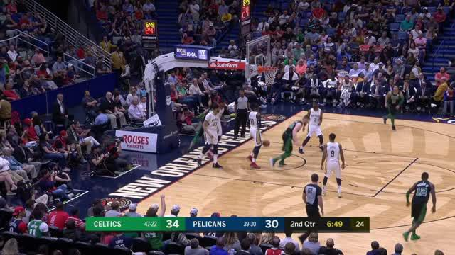 Berita video game recap NBA 2017-2018 antara New Orleans Pelicans melawan Boston Celtics dengan skor 108-89.