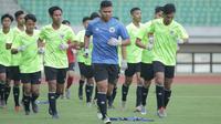 Timnas Indonesia U-16 memulai pemusatan latihan di Stadion Patriot Candrabhaga, Bekasi, Senin (6/7/2020). (PSSI).