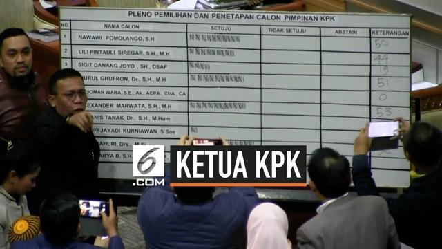 Irjen Pol. Firli Bahuri terpilih menjadi ketua KPK periode 2019-2023. Nama Firli dipilih secara musyawarah oleh Komisi III DPR RI yang sebelumnya juga memilih 5 komisioner KPK.