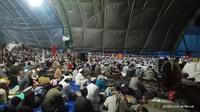 Ribuan orang hadir dalam Ijtima Dunia 2020 Zona Asia di Gowa. (Foto: LIputan6.com/Fauzan)