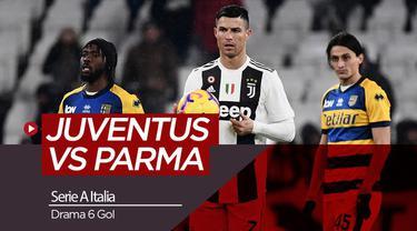 Berita video highlights Serie A antara Juventus menghadapi Parma yang berakhir dengan skor 3-3, Senin (3/2/2019).