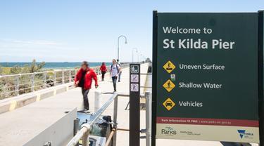 Kehidupan pantai di Melbourne