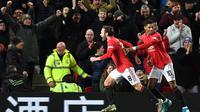 Juan Mata mencetak gol kemenangan MU atas Wolves (AFP)