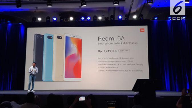 Harga smartphone Xiaomi Redmi 6A. Liputan6.com/ Agustinus Mario Damar
