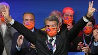 Joan Laporta kembali menjadi presiden Barcelona (AFP)