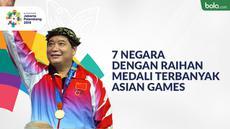 Berita video 7 negara peraih medali Asian Games terbanyak. Indonesia di posisi ke-12.