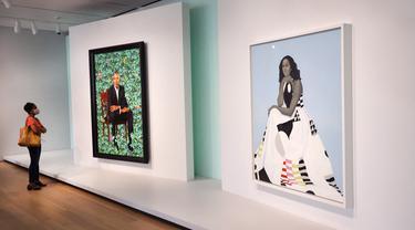 Lukisan yang Menampilkan Barack Obama dan Michelle Obama