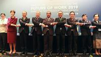 Sejumlah menteri tenaga kerja di kawasan ASEAN membahas future of work.