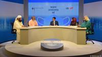 Gelar wicara di stasiun televisi Channel I, Bangladesh, yang digelar DW untuk membahas peran agama dalam pandemi COVID-19, Jumat 23 Oktober 2020. (DW)