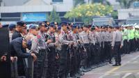 Pengamanan polisi. (Liputan6.com/ Faizal Fanani)