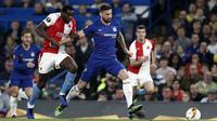 Chelsea meraih kemenangan 4-3 atas Slavia Praha dalam laga leg kedua perempat final Liga Europa, di Stamford Bridge, Kamis (18/4/2019) malam waktu setempat. (AFP/Adrian Dennis)