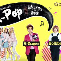 Simak Bintang K-Pop Hits of the Week kali ini yang lengkapi oleh G-Dragon, Bolbbalgan4, TWICE, dan Produce 101 Season 2. (Foto: larry1042k1.deviantart, playkpopmusic.blogspot.co.id, id.pinterest, Desain: Nurman Abdul Hakim/Bintang.com)